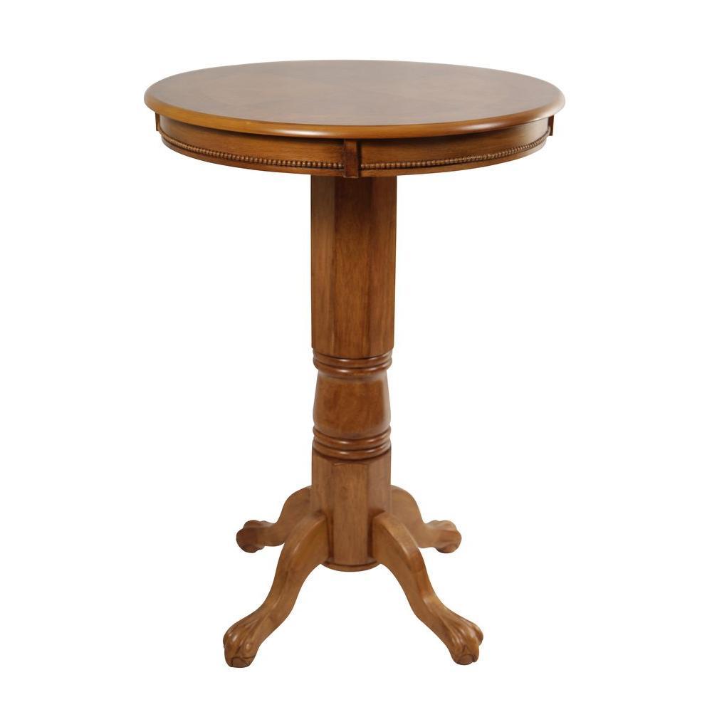 Boraam Florence Brush Oak Pub/Bar Table 71142