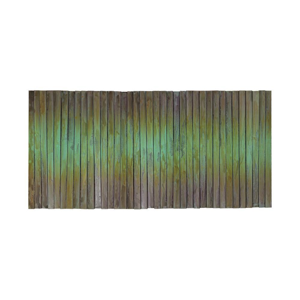 An Lighting Metal Wave 28 In X 54 Steel And Copper Hanging Wall