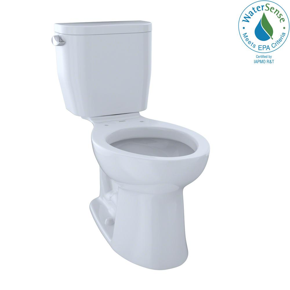 TOTO Entrada 2-piece 1.28 GPF Single Flush Elongated Toilet in ...