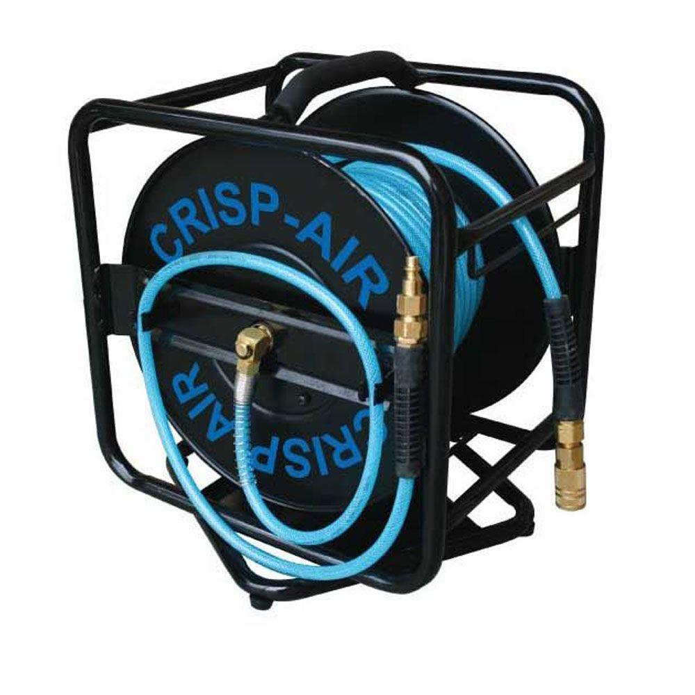 1/4 in. x 100 ft. Open Hose Reel with Polyurethane Air