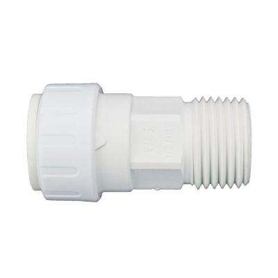 3/8 in. x 1/2 in. Plastic Push-to-Connect Male Connector Contractor Pack (10-Pack)