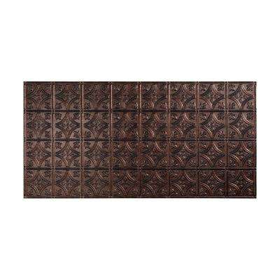 Traditional 1 - 2 ft. x 4 ft. Glue-up Ceiling Tile in Smoked Pewter
