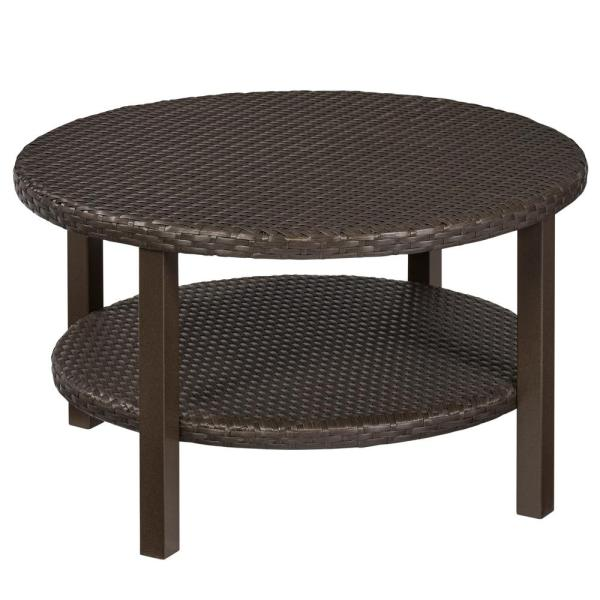 Hampton Bay Commercial Dark Brown Square Wicker Outdoor