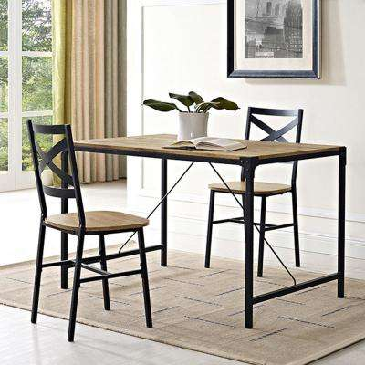 Angle Iron 5-Piece Barnwood Wood Dining Set