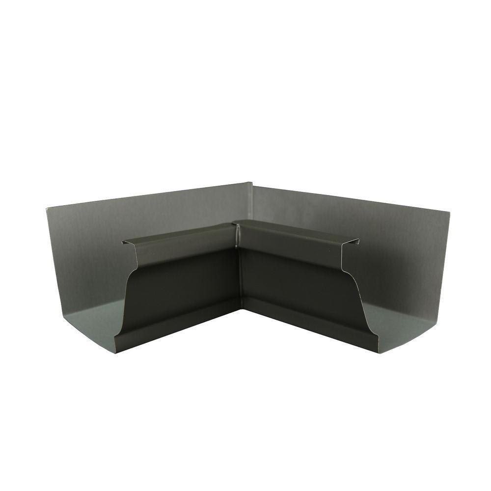 6 in. Tux Gray Aluminum Inside Box Gutter Miter