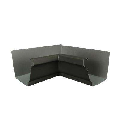 6 in. Tux Gray Aluminum Inside Box Gutter Miter
