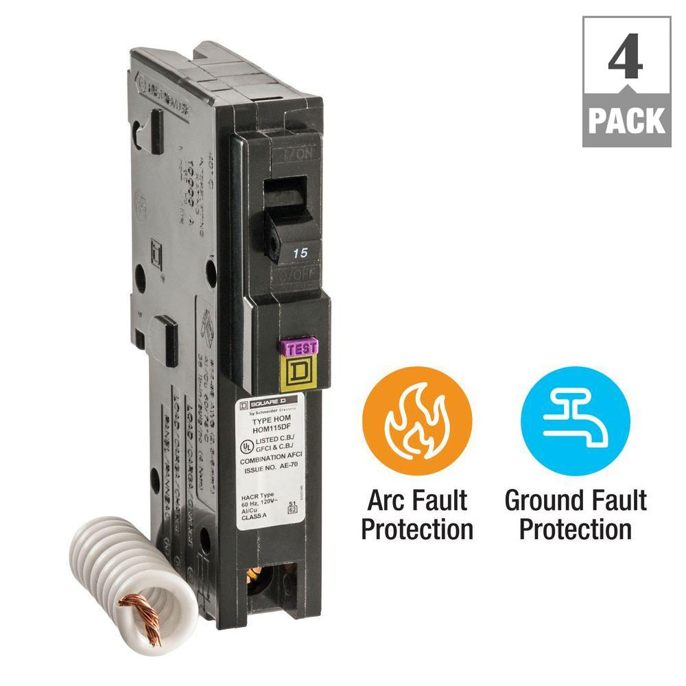 Murray 20 amp single pole type mp gt gfci circuit breaker mp120gfp homeline 15 amp single pole dual function cafci and gfci circuit breaker publicscrutiny Image collections