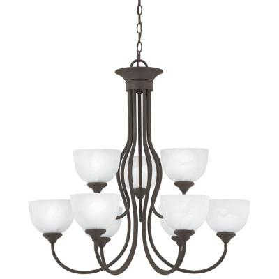 Tahoe 9-Light Painted Bronze Chandelier