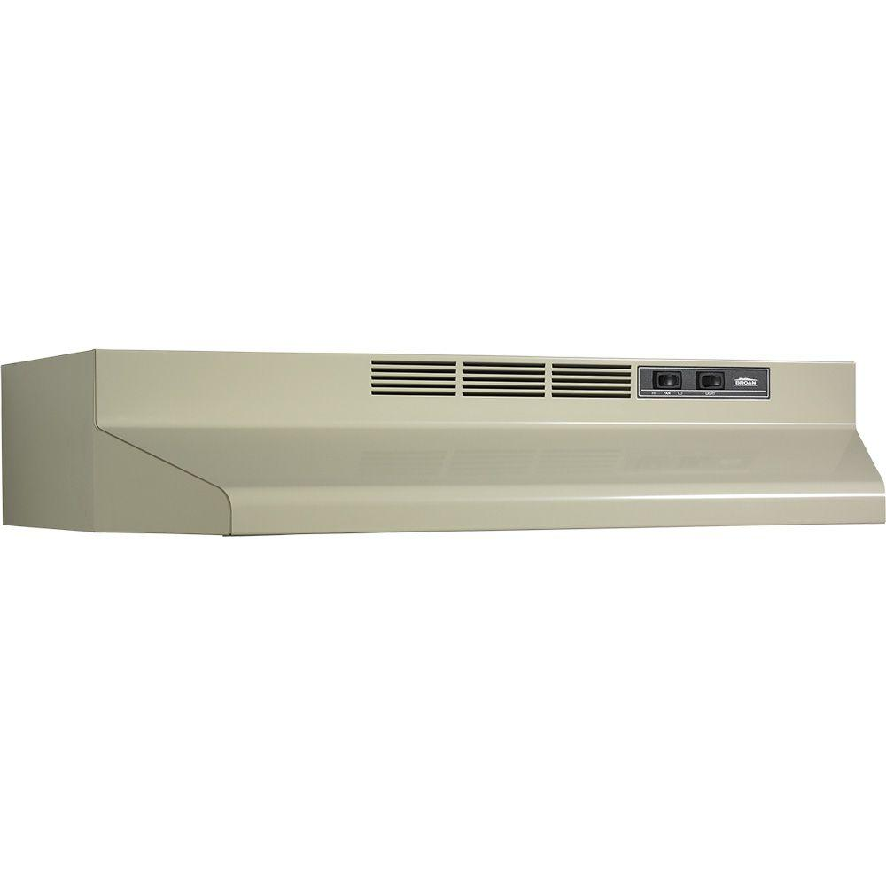 Broan F40000 Series 30 in. Convertible Range Hood in Almond