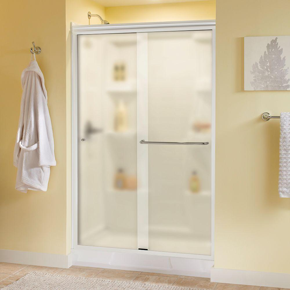 Simplicity 48 in. x 70 in. Semi-Frameless Traditional Sliding Shower Door