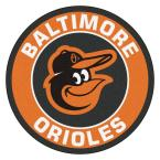 MLB Baltimore Orioles Orange 2 ft. x 2 ft. Round Area Rug