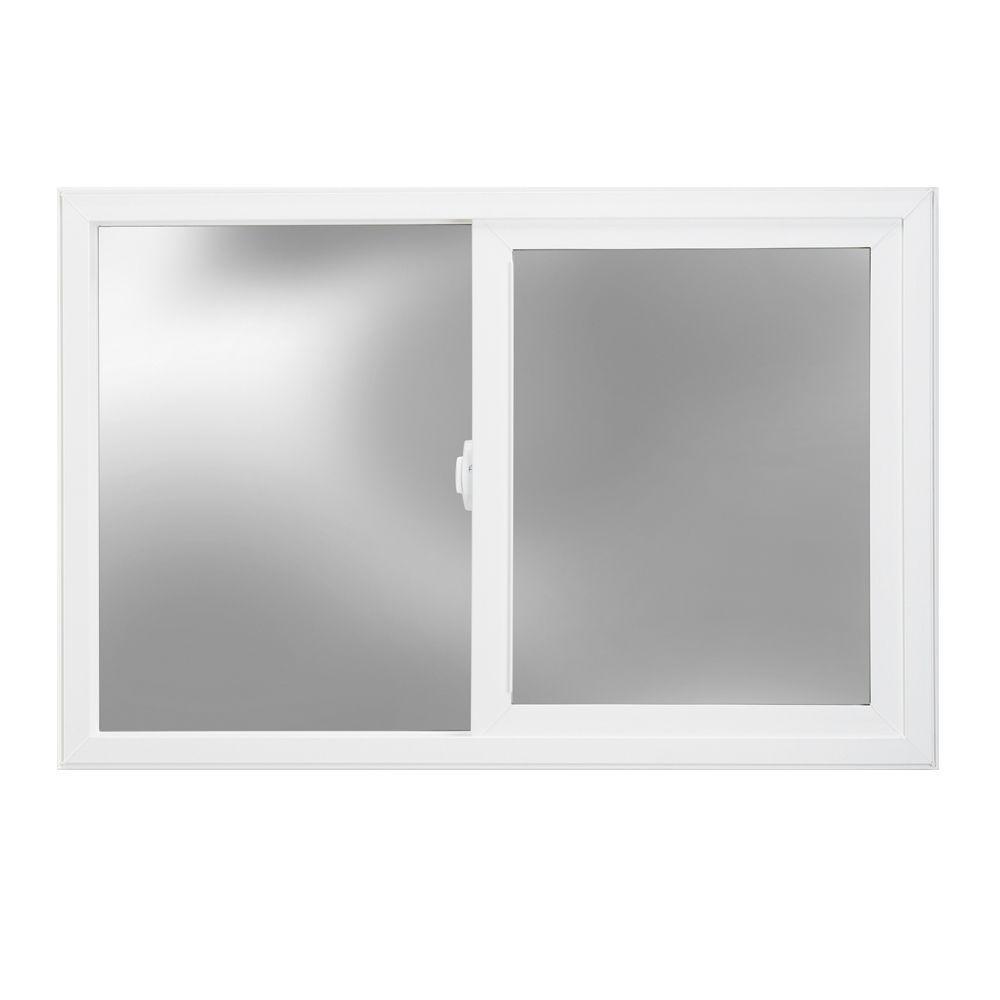 JELD-WEN 35.5 in. x 23.5 in. V-2500 Series Left-Hand Sliding Vinyl Window - White