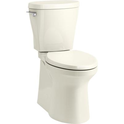 Betello 2-Piece 1.28 GPF Single Flush Elongated Toilet in Biscuit (Seat Not Included)