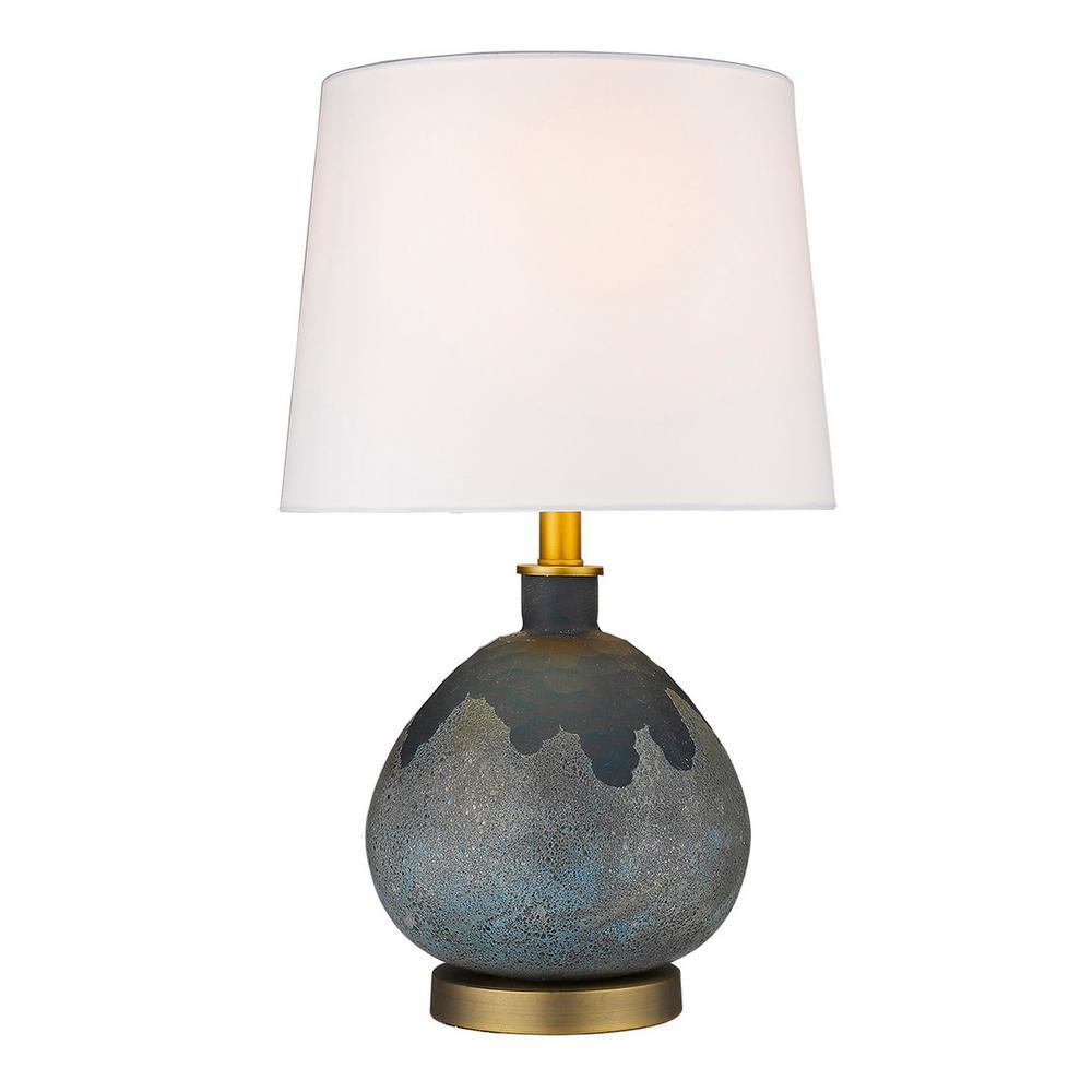 Teal Gl Table Lamp