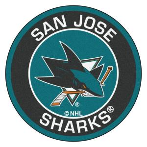 Fanmats Nhl San Jose Sharks Black 2 Ft 3 In X 2 Ft 3 In