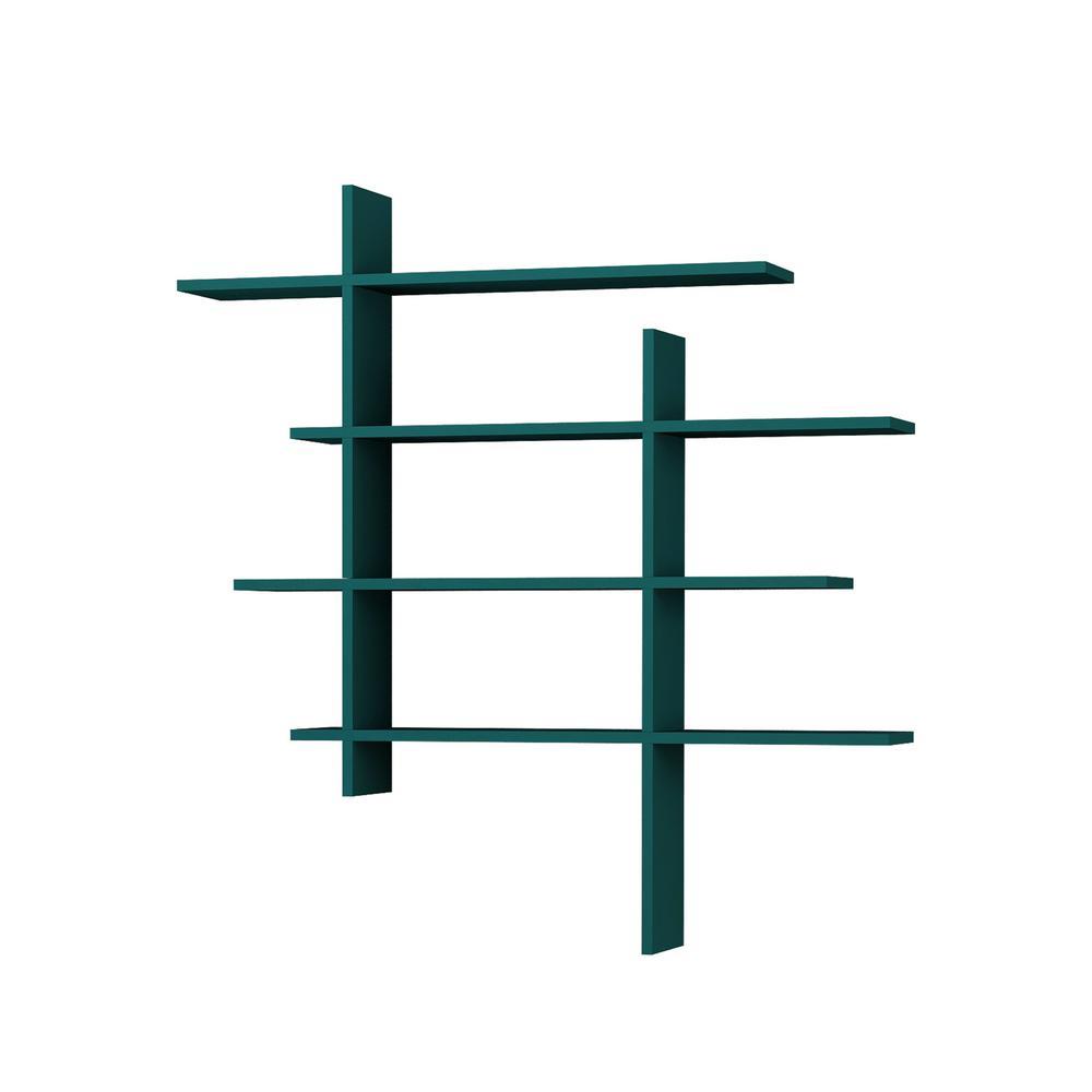 Will Turquoise Modern Wall Shelf