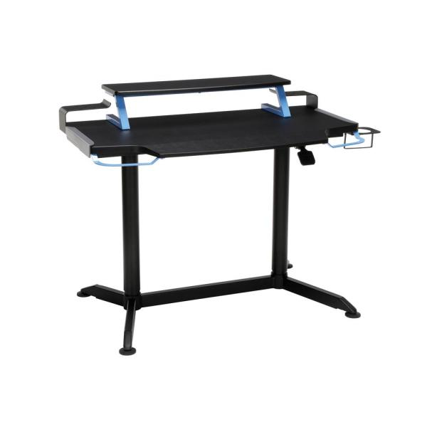 42 in. Rectangular Blue Computer Desk with Adjustable Height Feature