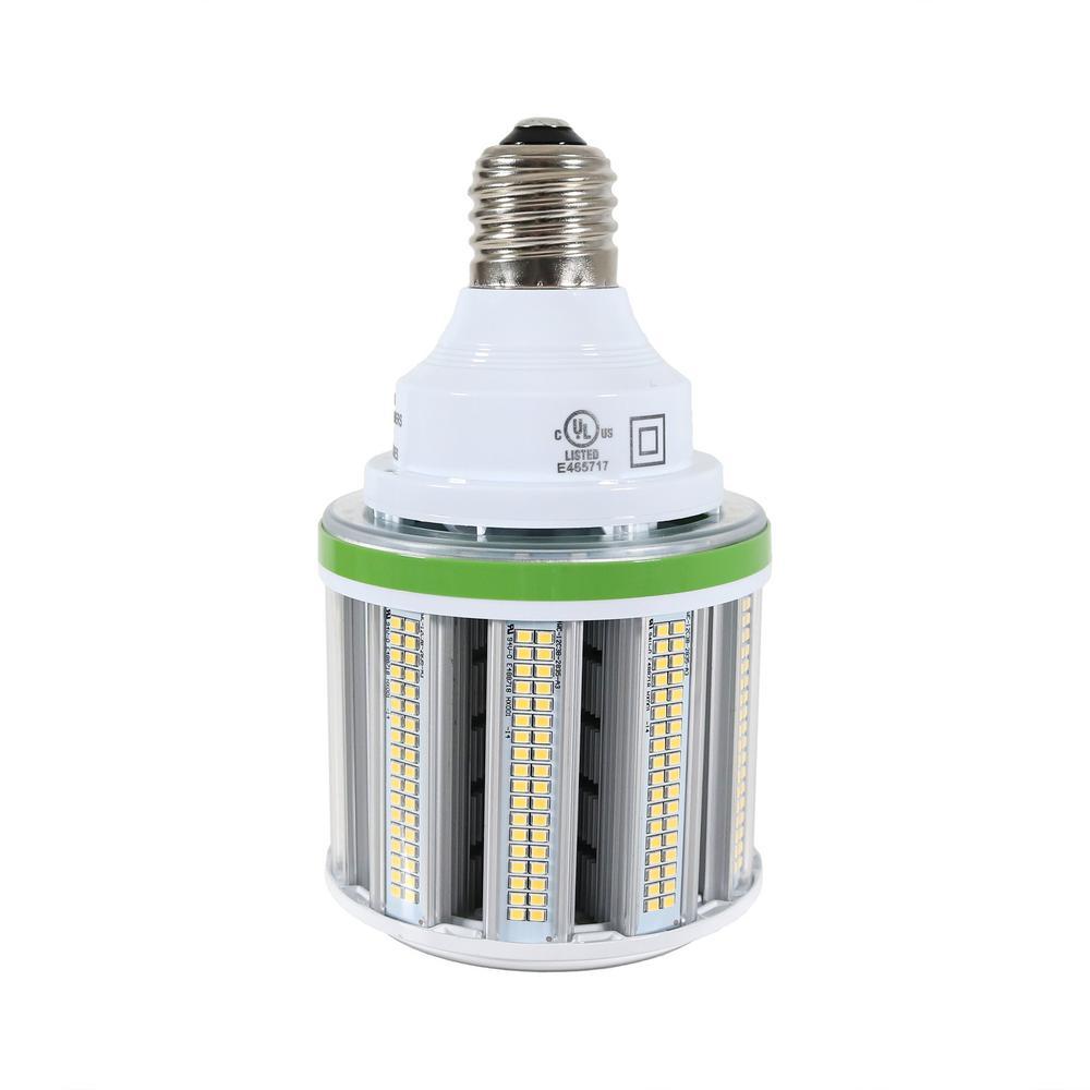 54-Watt Equivalent White LED Corn Light Bulb 5000K, 7020 Lumens, Mogul E39 Base,175-Watt -250-Watt Metal Halide (1-Bulb)