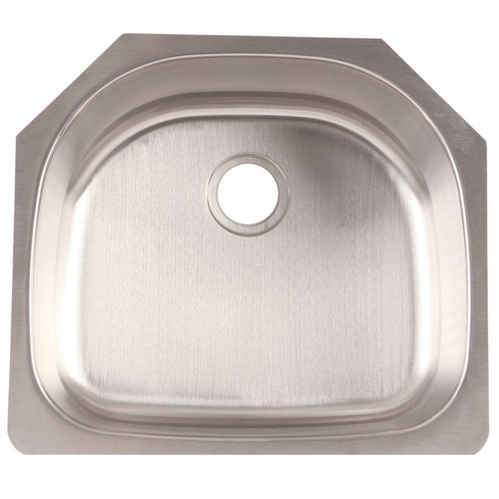 Franke Undermount Stainless Steel 24x21x9 0-Hole Single Basin Kitchen Sink