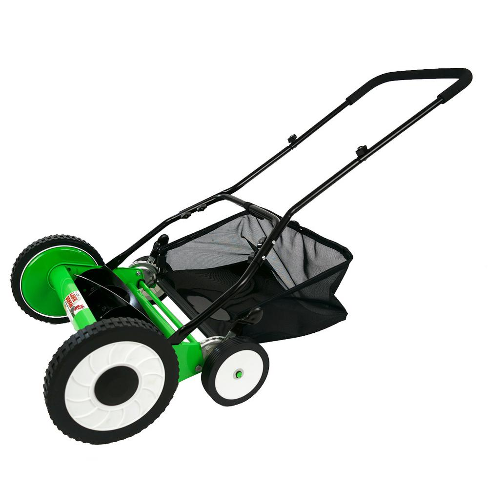 Lawn Demon 16 in. 5-Blade Height Adjusting Push Reel Mower