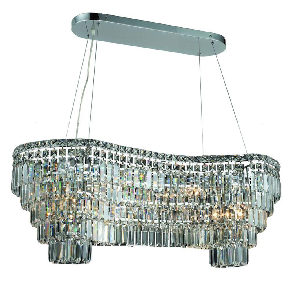 Elegant Lighting 14-Light Chrome Chandelier with Crystal Clear