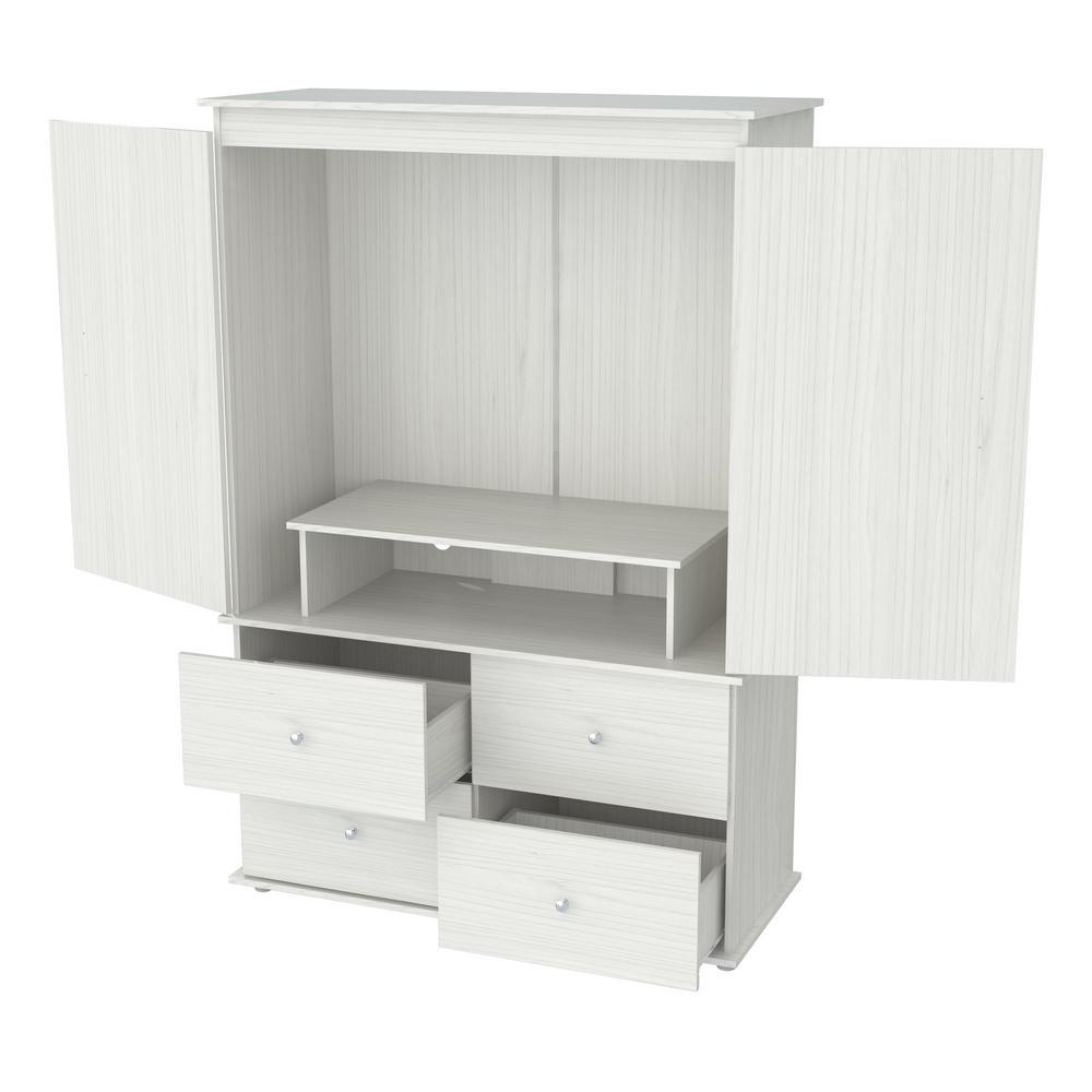 Inval Laricina White Armoire AM-15123