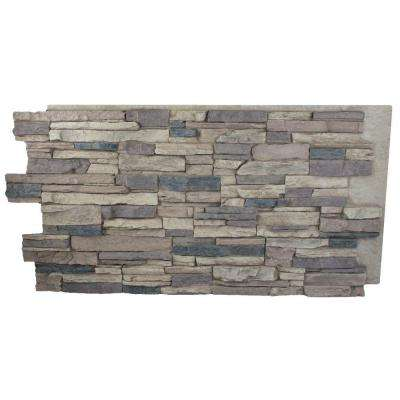 Rustic Lodge 24 in. x 48 in. x 1-1/4 in. Faux Grand Heritage Stack Stone Panel