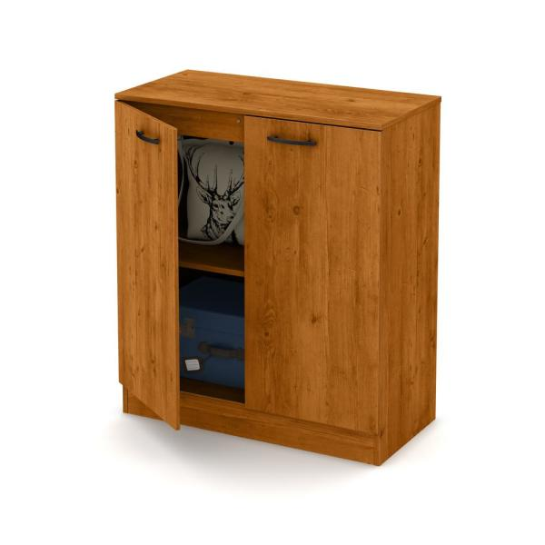 Home Depot Pine Kitchen Cabinets: South Shore Axess Country Pine Storage Cabinet 10188