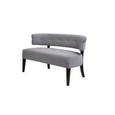 Jared Light Grey Tufted Bench Settee