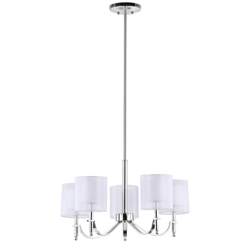 Safavieh Mika 5-Light Chrome Lamp