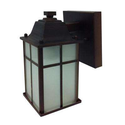 1 Light Oil Rubbed Bronze Outdoor Wall Sconce