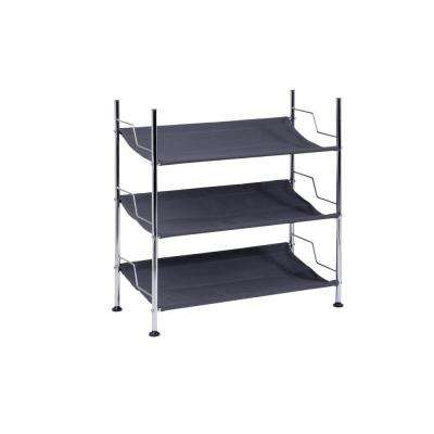 3-Tier 9-Pair Canvas Shoe Organizer
