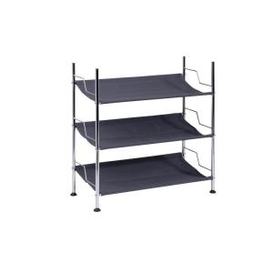 Honey-Can-Do 3-Tier Canvas Shoe Rack by Honey-Can-Do