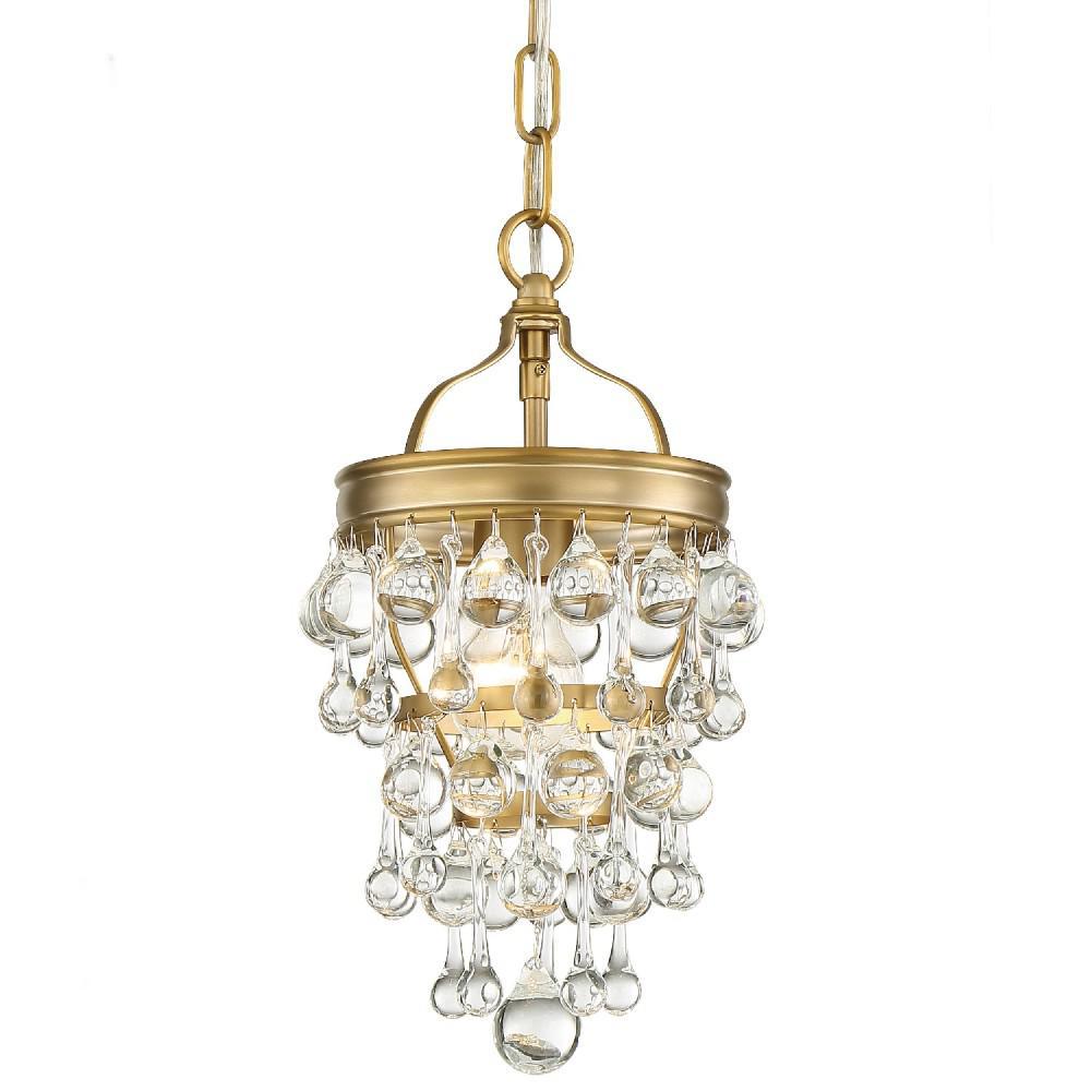 Calypso 1-Light Vibrant Gold Mini Chandelier
