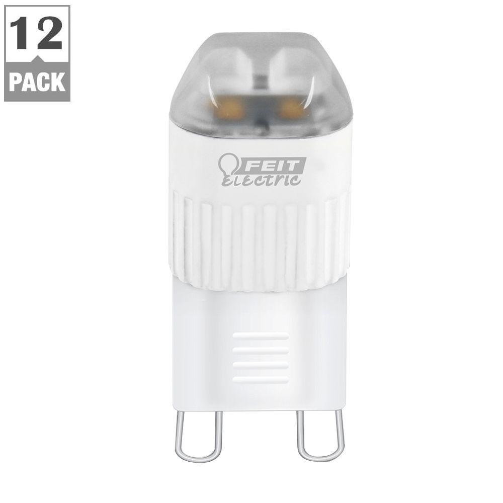 20W Equivalent Warm White G9 LED Light Bulb (Case of 12)