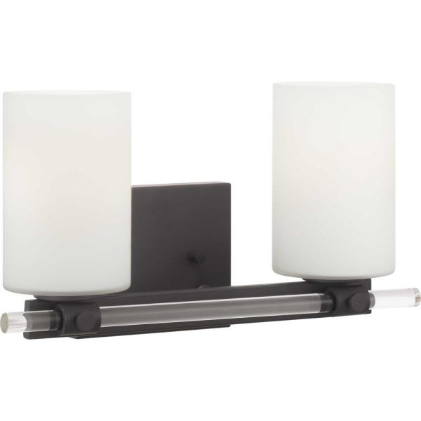 Lisbon Collection 2-Light Black Vanity Light