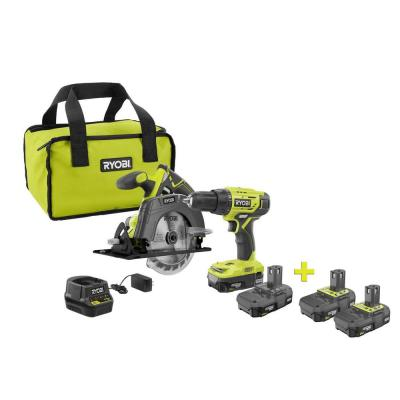 18-Volt ONE+ Lithium-Ion Cordless Combo Kit (2-Tool) with Free 18-Volt ONE+ 2.0 Ah Lithium-Ion Compact Battery (2-Pack)