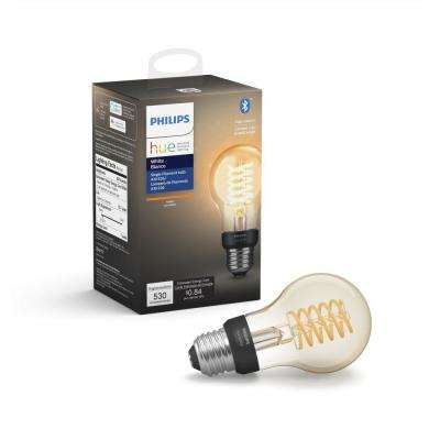 White A19 LED 40W Equivalent Dimmable Wireless Edison Smart Light Bulb with Bluetooth