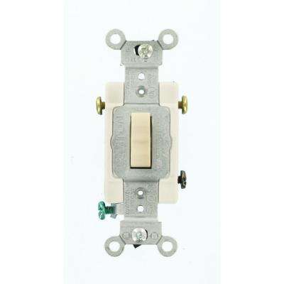 15 Amp Commercial Grade 3-Way Toggle Switch, Light Almond