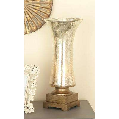 8 in. x 18 in. Touch of Glass Frosted Inverted Bell Polystone Uplight