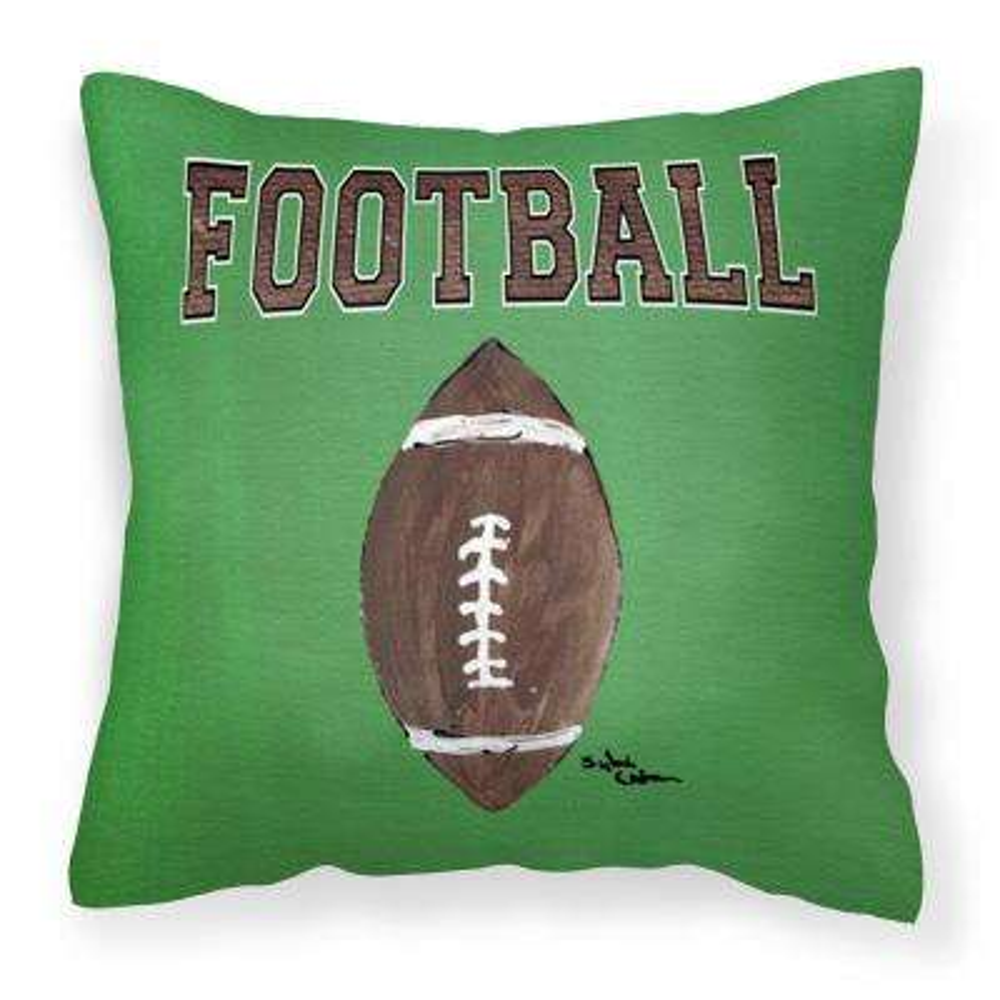14 in. x 14 in. Multi-Color Lumbar Outdoor Throw Pillow Football Canvas