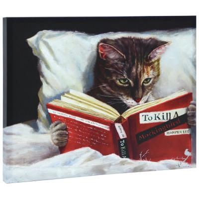 """""""Late Night Thriller"""" Graphic Art Print on Wrapped Canvas Cat Wall Art"""