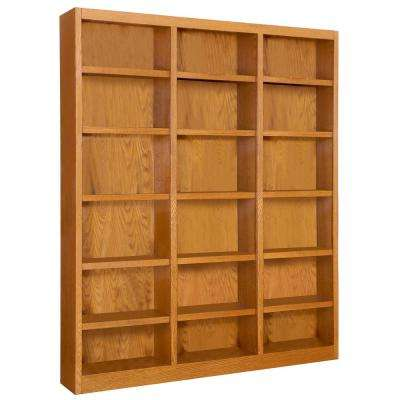 72 in. x 84 in. Dry Oak Wall Storage Unit