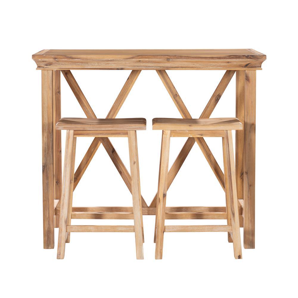 3-Piece Linon Algo Natural Tavern Set