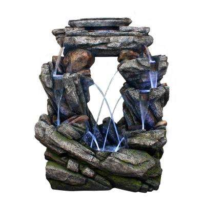 52 in. Tall Open Rock Fountain with LED Light