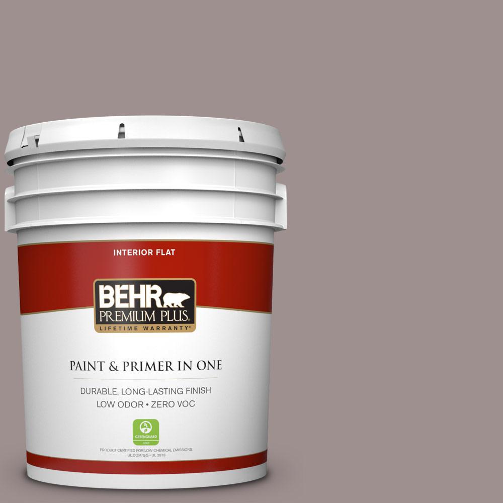 BEHR Premium Plus 5-gal. #780B-5 Cheyenne Rock Zero VOC Flat Interior Paint