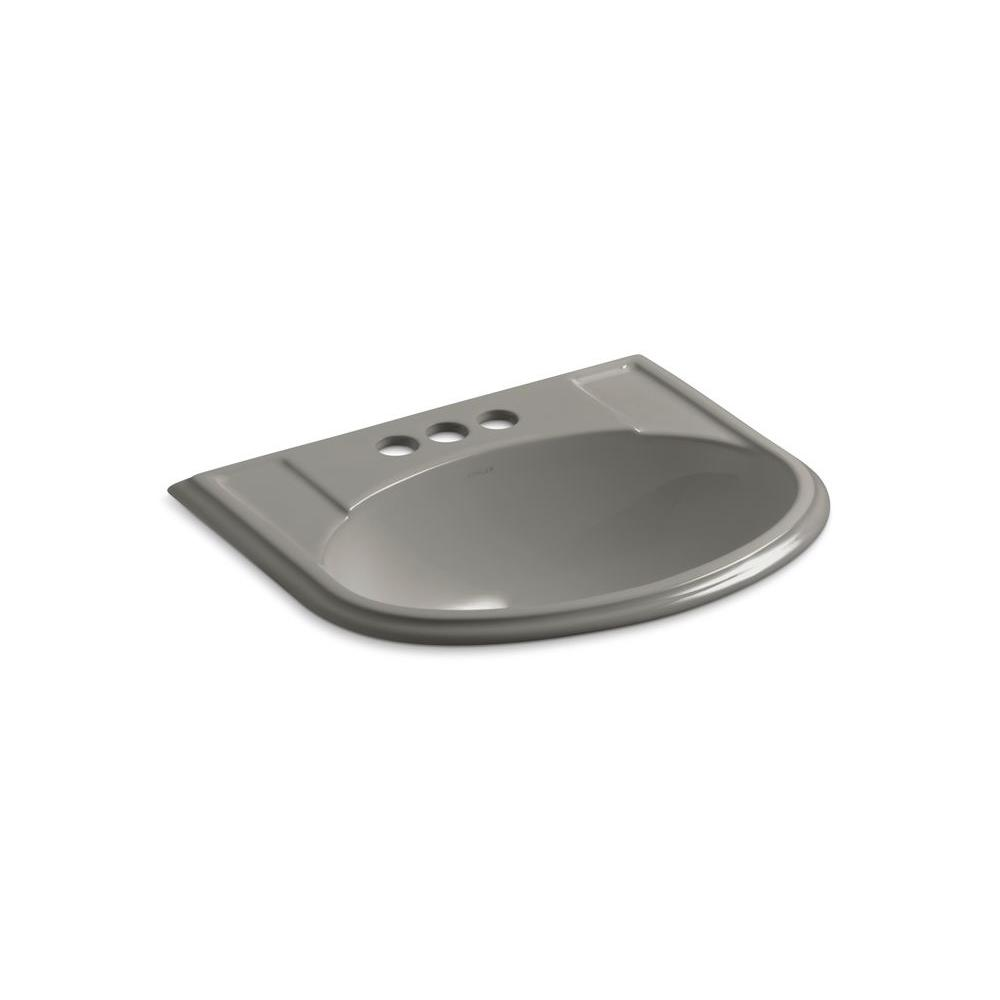 KOHLER Devonshire Drop-In Vitreous China Bathroom Sink in Cashmere with Overflow Drain