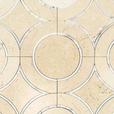 Evermore Beige 11.75 in. x 11.75 in. Marble Mosaic Floor and Wall Tile (1 sheet / 0.97 sq. ft. / sheet)