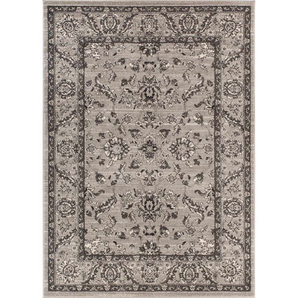 Well Woven Sydney Vintage Carleton Grey 8 Ft X 11 Traditional Area Rug