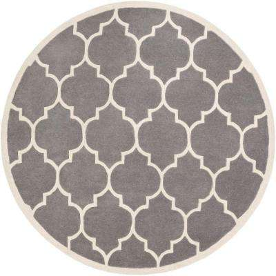 Transit Piper Gray 8 ft. x 8 ft. Round Indoor Area Rug